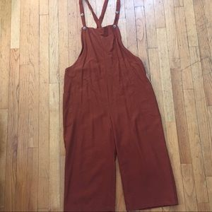 Blush BJ Rust Button Overalls Size Large